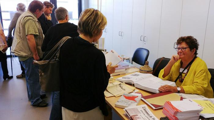 Andrée Chauveheid, éditrice du seul journal rédactionnel local en Belgique, L'Annonce de Vielsalm